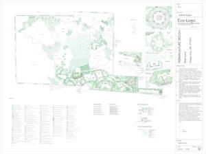 Image: hillside landscaping on 55 acres.
