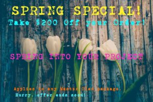 image: contemporary landscape spring special $200 off!