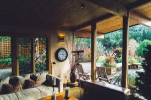 image: affordable landscaping view from inside house
